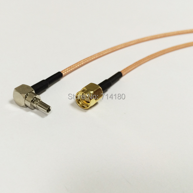 3G HUAWEI modem adapter CRC9 Male Right Angle to RP SMA male plug pigtail Cable RG316 15cm 6 wholesale