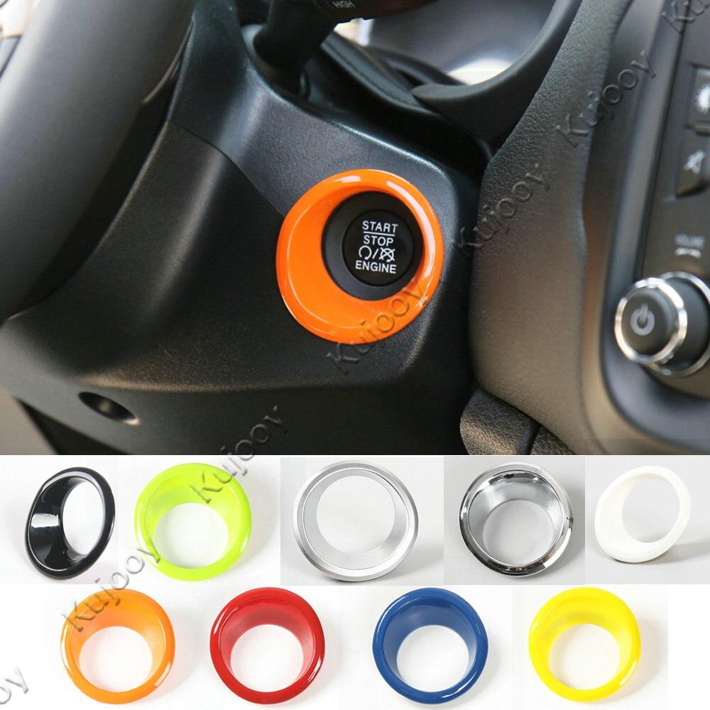 8 Colors Engine Start Stop Push Button Trim Ring Cover Outlet font b Car b font