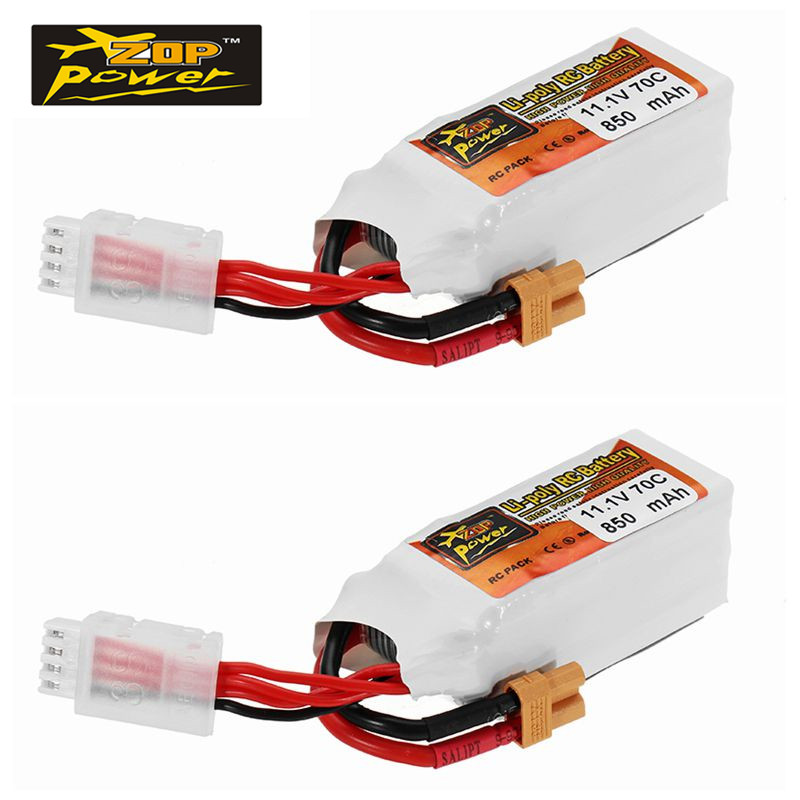 2PCS ZOP Power 11.1V 850mAh 70C 3S Lipo Battery XT30 Plug for FPV RC Racing Drone Car Boat Quadcopter Toys Spare Parts Accs 2018 rechargeable zop power 7 4v 1000mah 2s 25c lipo battery jst plug connector for rc drone fpv quadcopter diy toys spare parts