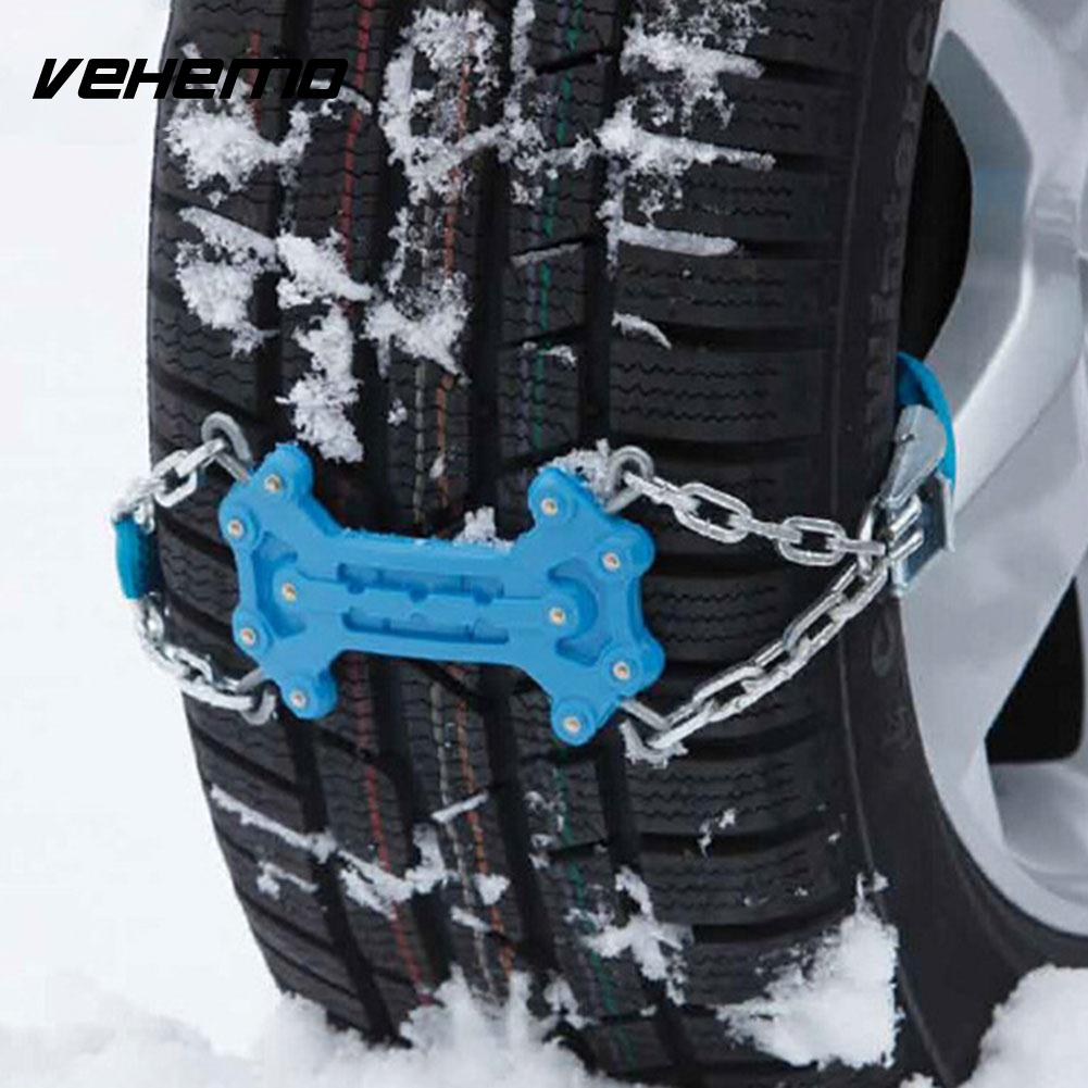 2pcs Thickened Durable Snow Chain Mud Wheel Climbing Mud Ground Winter Driving Roadway Safety Snow Tire Belt Emergency Vehicles