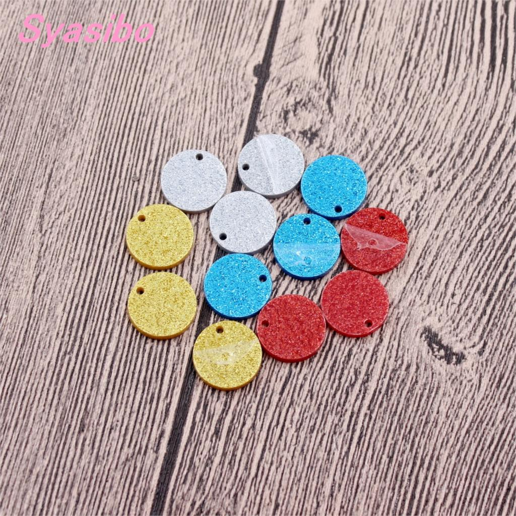 12mm//16mm Assorted Discs With hole Acrylic Stud Earring(No stud) Circle Glitter Earrings Laser Cut -AC1028B /H12mm//16mm Assorted Discs With hole Acrylic Stud Earring(No stud) Circle Glitter Earrings Laser Cut -AC1028B /H