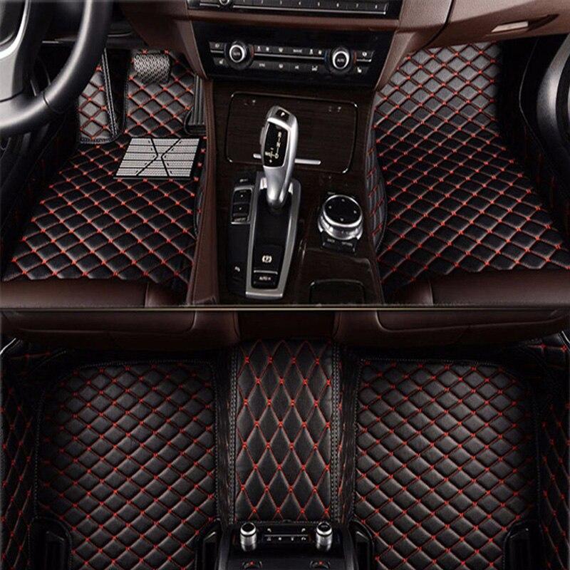 Flash de couro tapete tapetes do assoalho do carro para Jaguar XF XJL XE XJ6 XJ6L F-PACE F-TYPE marca firm macio acessórios do carro estilo do carro Personalizado