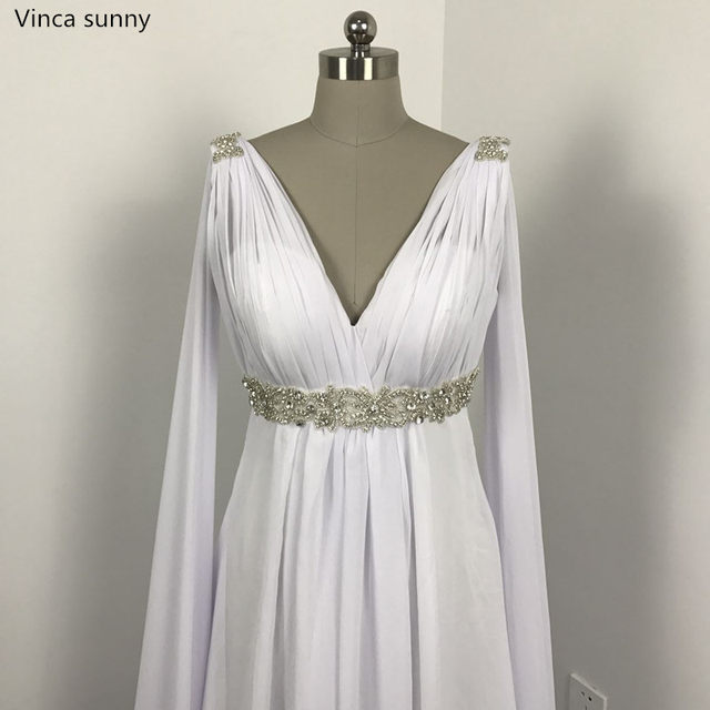 Online Shop Greek Style Wedding Dresses with Watteau Train 2017 V ...