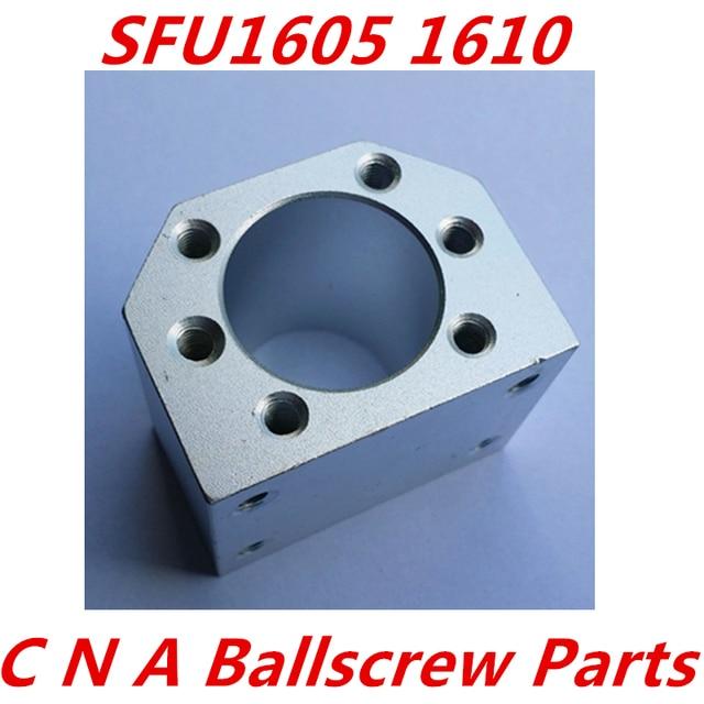 จัดส่งฟรี3ชิ้น/ล็อต1605ลูกน็อตที่ยึดยึดที่อยู่อาศัยอลูมิเนียมสำหรับ16มิลลิเมตรบอลสกรูSFU1605 SFU1604 SFU1610 CNCชิ้นส่วน