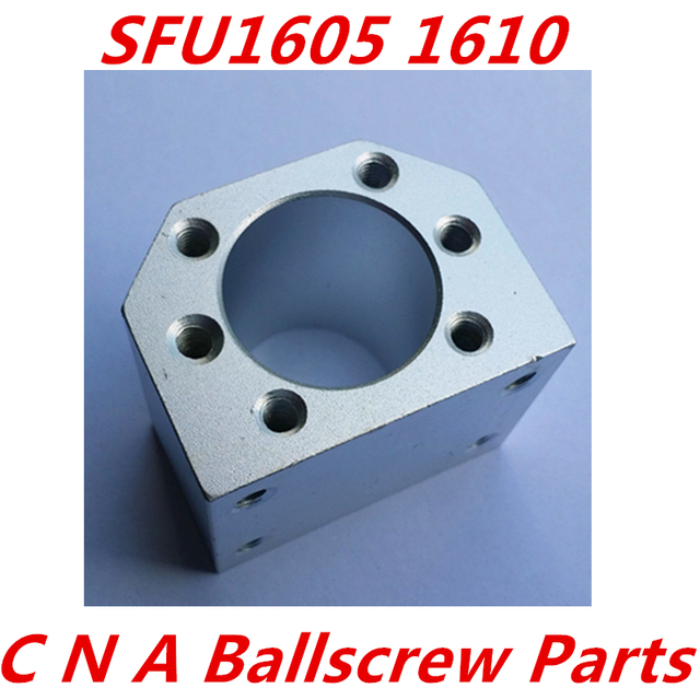 Darmowa wysyłka 3 sztuk/partia 1605 nakrętka ball obudowa uchwyt uchwyt aluminiowy do 16mm śruby kulowej SFU1605 SFU1604 SFU1610 CNC części