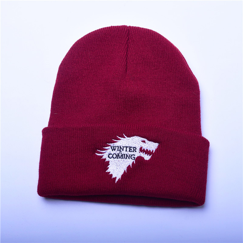 ec214c8b7ff Detail Feedback Questions about Beanie Hat Knitted Women Caps Game Of Thrones  Warm Knitted Beanie Skullies House Of Stark Winter Is Coming Platinum Cap  Wolf ...