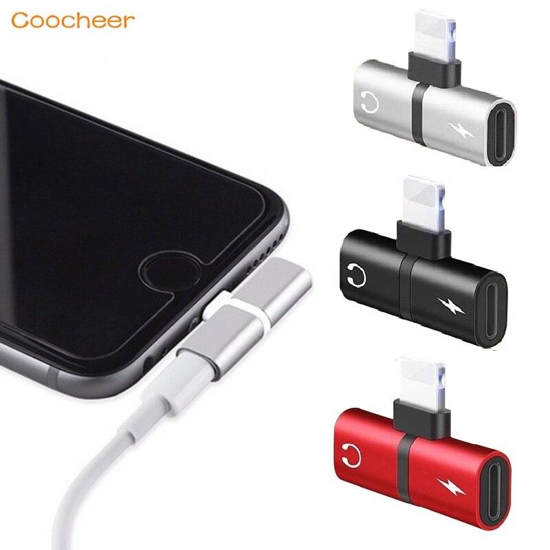 New Mobile phone 2 in 1 Splitter For Lightning Audio Charging Adapter For iPhone 7 8 Plus/X Headphone Splitter Adapter Converter