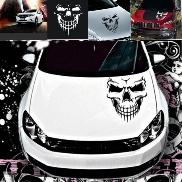 DEDC Skull Hood Decal Vinyl Large Graphic Truck Tailgate Window Car Sticker