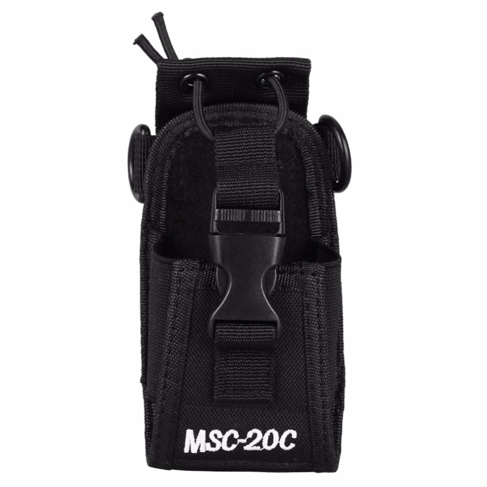 MSC-20C Walkie Talkie Bag Case Cover Nylon Carry Shoulder Bag Pouch Holder For Kenwood BaoFeng UV-5R UV-5RA UV-5RB UV-B5 BF-888S oem 10 144 430 na 519 sma walkie talkie baofeng 5r px 888k tg uv2 uvd1p na 519 page 1