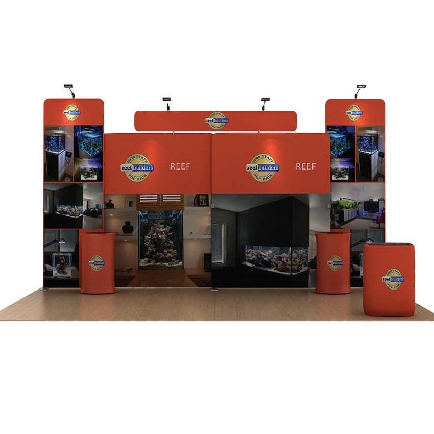 Fabric Exhibition Stand Builders : 20ft protable fabric trade show display booth exhibition pop up