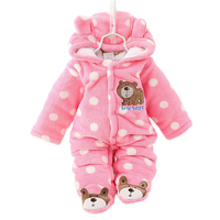 Cotton Baby Rompers Winter Baby Boy Clothes 2017 Baby Girl Clothing Sets Cute Newborn Baby Clothes