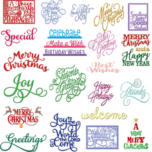 Best Wishes Multi Shape Metal Cutting Dies Stencil Scrapbook Album Embossing For Gift Card Making Handcrafts Decor