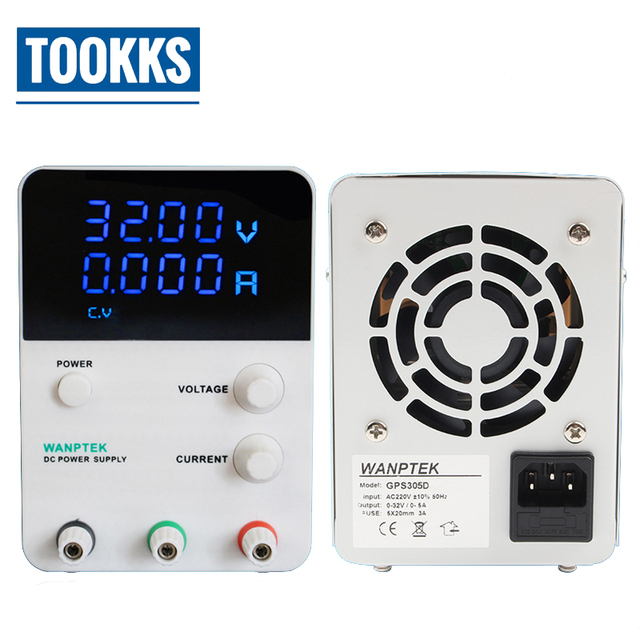 Mini 30V 5A LED Display Adjustable Switching DC Power Supply GPS305D 4 Digits LED Voltage Regulator Power Source 220v