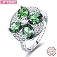 Jrose typu kwiat biżuteria 100% solidna obudowa standardowy Sterling Silver Oryginalna 925 Srebrny Pierścień rozmiar 6789 kobiet prezent zaręczynowy