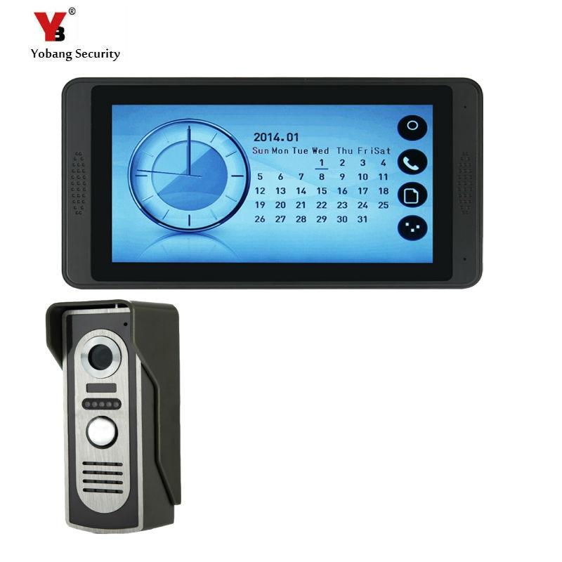 Yobang Безопасность Видео домофон Handsfree ночного видения дверь камера колокол цветной сенсорный монитор 7 дюймов громче динамик видео Interco - Цвет: 620M11