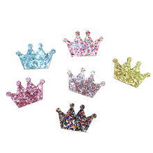 Дэвид аксессуары блеск короны цветок аксессуары для волос 50 шт., DIY материалы ручной работы Обувь для девочек Головные уборы заколки, 50yc2744