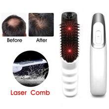 Laser Haar Wachstum Kamm Haarausfall Behandlung Infrarot Laser Kamm Fördern Wachstum Stop Haarausfall Nachwachsen Therapie Kopfhaut Massager