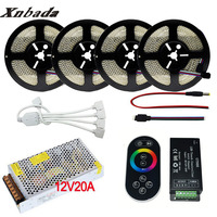 2835 DC12V RGB LED Strip Light 234 LEDs/m Flexible LED Light RGB Neon Light Strip + 18A GT666 RGB led Controller + Power Supply
