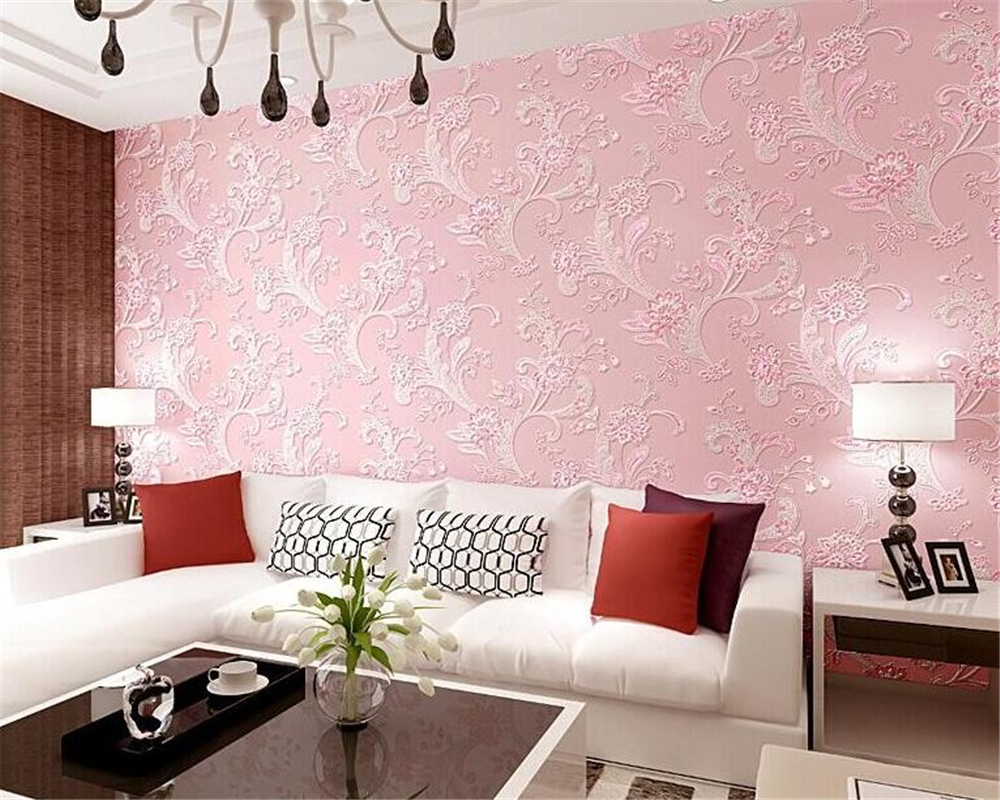 Grey And Pink Living Room Wallpaper | Thecreativescientist.com