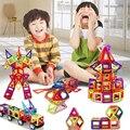 108 unids Estándar Tamaño DIY bloques de construcción Magnética imán mágico tirando magnética bloques de construcción ensambladas regalos para los niños