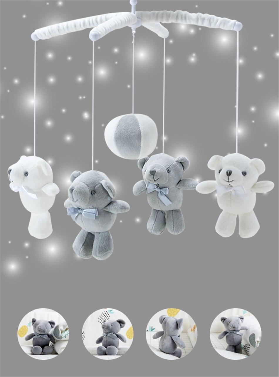 Brinquedos do bebê 0-12 meses urso feito