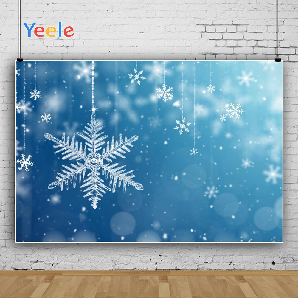 Yeele Wallpaper Snowflake Decoration Blue Photozone Photography Backdrops Personalized Photographic Backgrounds For Photo Studio in Background from Consumer Electronics