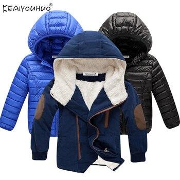 2018 Yeni Kış Erkek Mont Ceket Kızlar Için Bebek Giysileri Uzun Kollu Çocuk Erkek Ceket Pamuk Sıcak Kapüşonlu Ceketler Çocuklar giyim