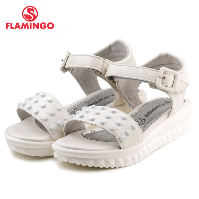 FLAMINGO famous brand 2016 New Arrival Spring & Summer Kids Fashion High Quality sandals for girls 61-SS104