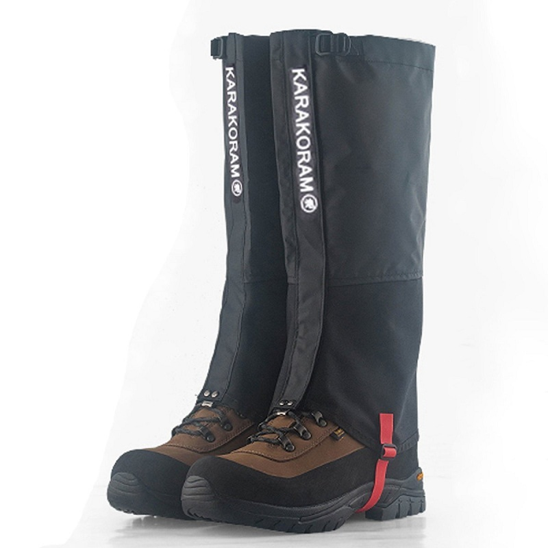 1 Pair Outdoor Waterproof Hiking Gaiters Nylon Camping Teekking Skiing Desert Black Snow Leg Gaiters