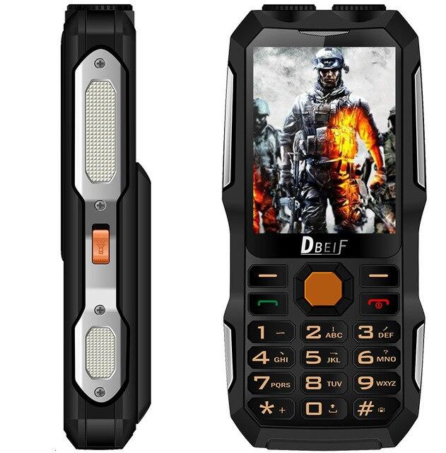 DBEIF D2016 Double Sim Téléphone Portable lampe de Poche Grosse Voix Grande Puissance de La Batterie Banque Antenne Analogique Téléviseurs Mobile Cellulaire Téléphone