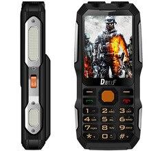 DBEIF D2016 Dual Sim мобильный телефон фонарик большой голос большой внешний Аккумулятор Антенна аналоговые телевизоры мобильный сотовый телефон