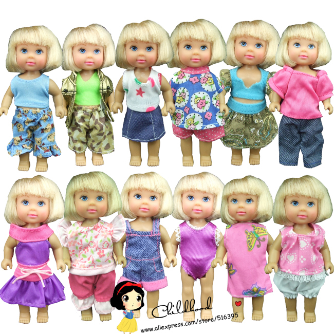 Free Shipping Factory Wholesales 10 Sets Clothes And Dress For Mini Barbie Doll For Kelly Doll For Simba Doll