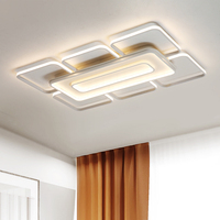 Fly Sky City Rectangle Modern led ceiling lights for living room bedroom white or coffee finished square ceiling lamp
