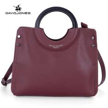 DAVID JONES women handbag faux leather female shoulder bag large lady solid top handle bag girl crossbody bag drop shipping - DISCOUNT ITEM  40% OFF All Category