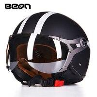 beon helmet b 110 motorcycle helmet open face cycling helmet capacete motociclismo cascos para vintage moto helmets