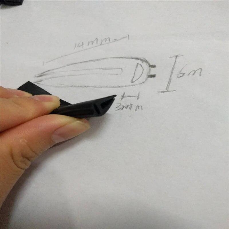 """5ft//60/"""" Rubber Seal Edge Trim Strip Car Door Hood EPDM Self Adhesive Protector"""