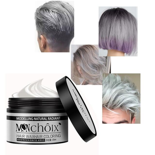 New Fashion Grandma Gray Hair Dye Styling Products Hair Color Wax ...