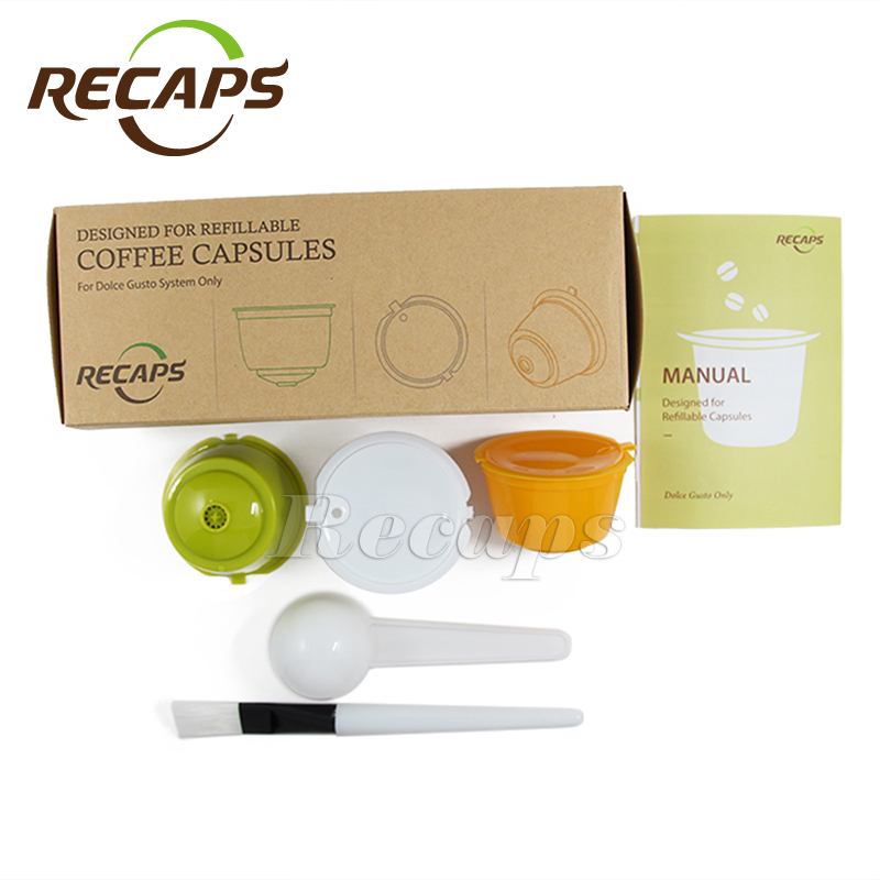3 piece refillable dolce gusto capsules. Black Bedroom Furniture Sets. Home Design Ideas