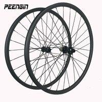 rueda mtb 29er/27.5inch 27mm Wide rim Carbon Clincher Mountain Bike disc brake wheel tookless tubeless XC quick release wheelset