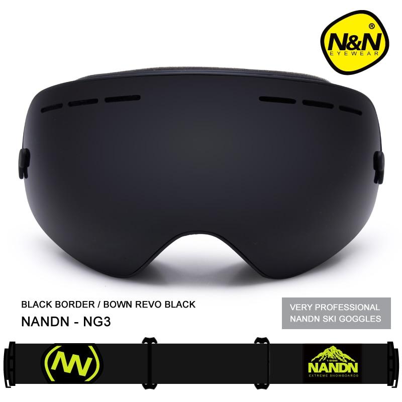 NANDN двойной Слои многоцветный Анти туман наружные спортивные очки с большими для мотокросса и лыж для катания на сноуборде профессиональны... - 2