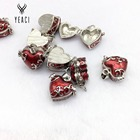 Collares Kolye For Pingente Floating Locket Necklace Wholesale Free Shipping 10pcs Hearts Lockets Charms Pendants Beads