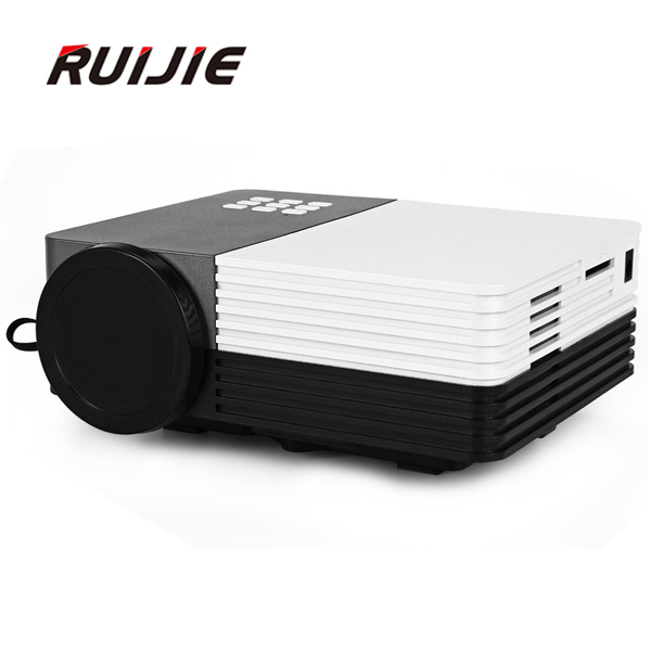 GM50 Mini Portable LED Projector Video 3D 150 Lumens Projector With Remote Controller Support AV/USB/SD/VGA HDMI