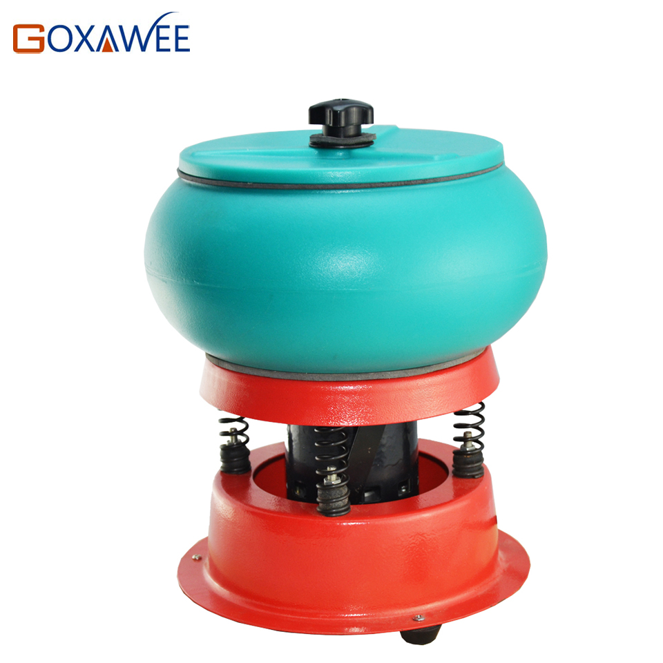 GOXAWEE 3kg Polishing Machine Vibratory Tumbler Vibrating Polishing Machine For Metal Jewelry Polisher Grinder jewelry Machine goxawee 1pc buff polishing compound metal jewelry polishing compound abrasive paste abrasive tools blue white gray yellow green