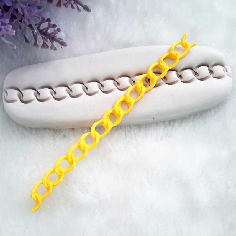 Silikonowe kremówki ciasto do pieczenia, torba łańcuch w kształcie 3d formy ciasto formy żywności klasy dekoracji 10.5*3.5*0.5cm