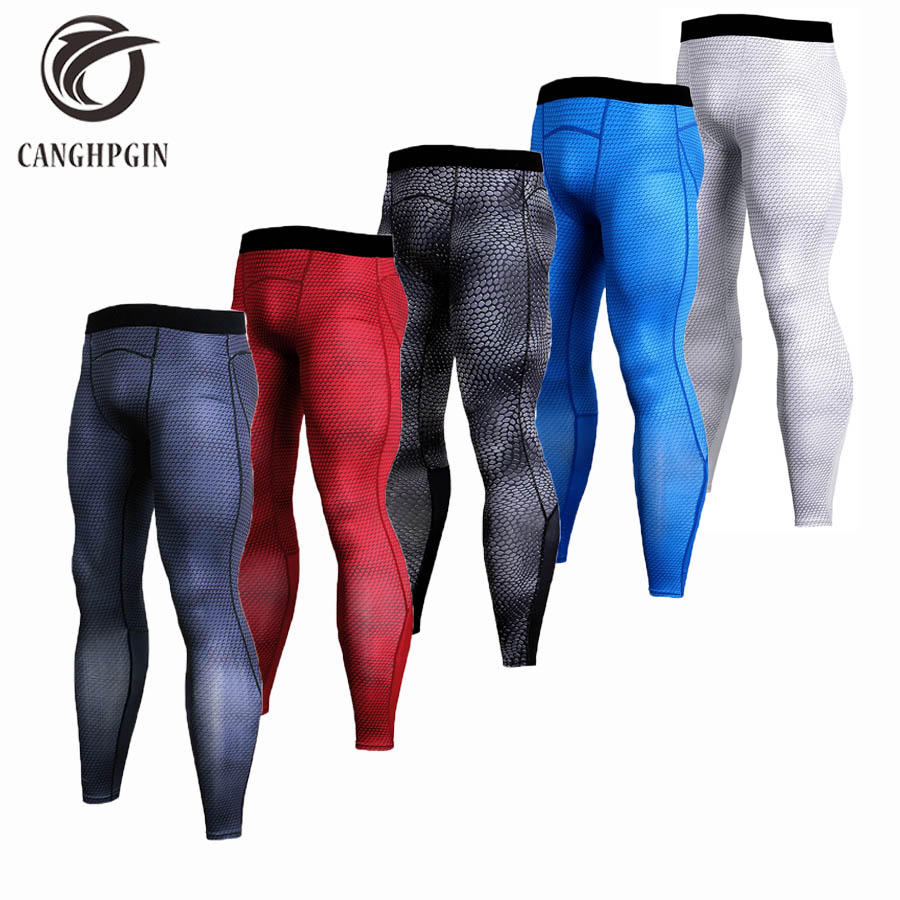 Mens Compression Pants Sport Tights Jogging Running Pants Men Bodybuilding Skinny Leggings Sportswear Fitness Brand Gym Pants