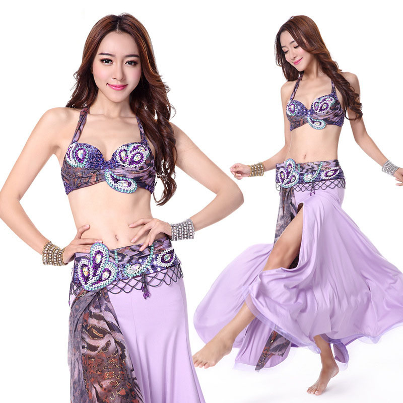 b20f37dd7 Bellydance oriental Belly Indian eastern dance dancing costume costumes  clothes bra belt chain ring skirt dress set suit 298