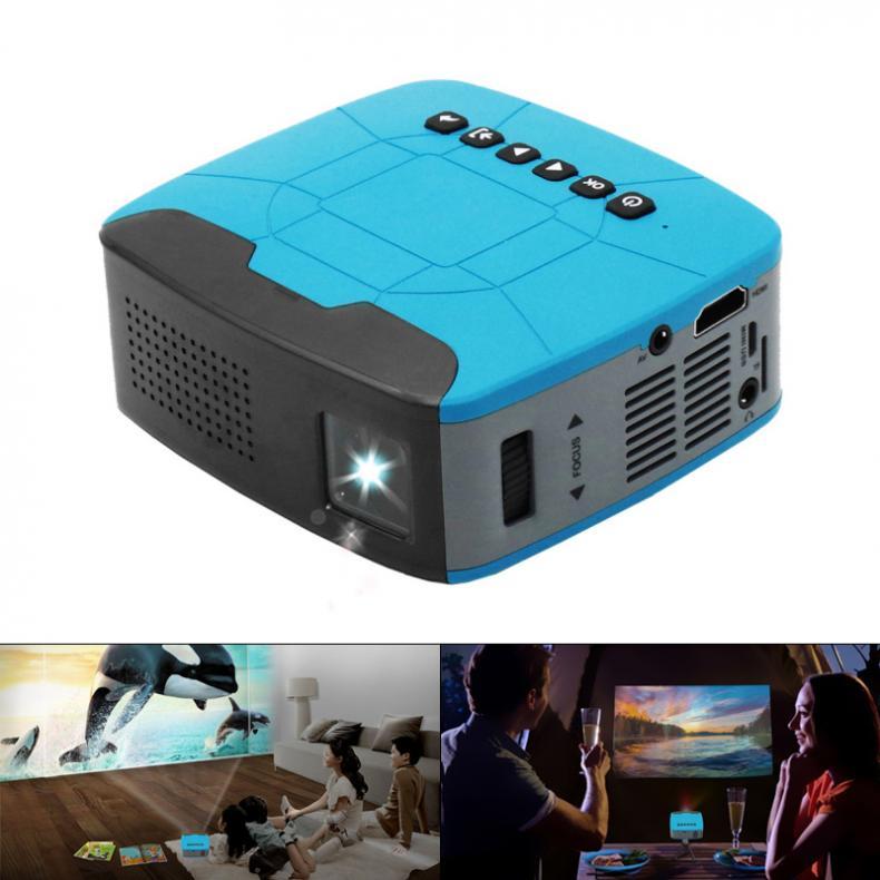 U20 116 Polegada mini projetor multimídia led 320x240 resolução 500 lúmen com foco curto design para casa e entretenimento