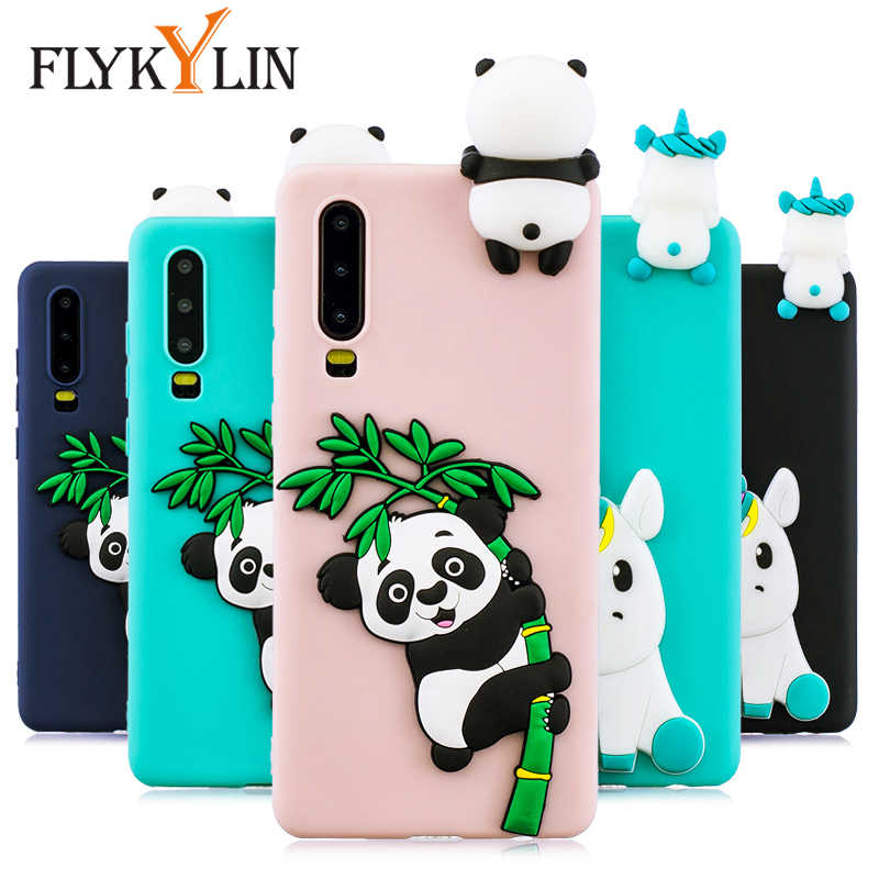 FLYKYLIN Silicone Case For Huawei P30 Pro Cases For Huawei P20 Lite P10 Lite Cover on P8 Lite 2017 Capa 3D Doll Toys Phone Coque