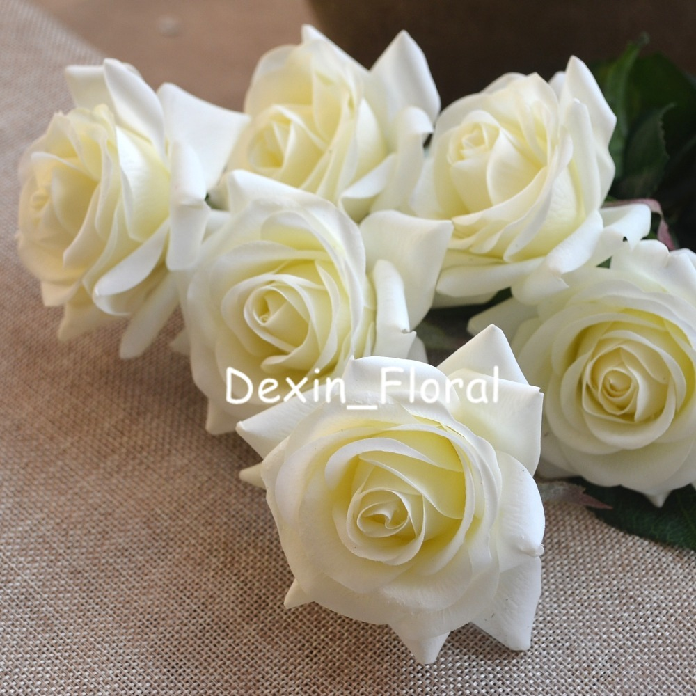 Aliexpress Buy Ivory Cream Rose Real Touch Silk Roses Diy Silk