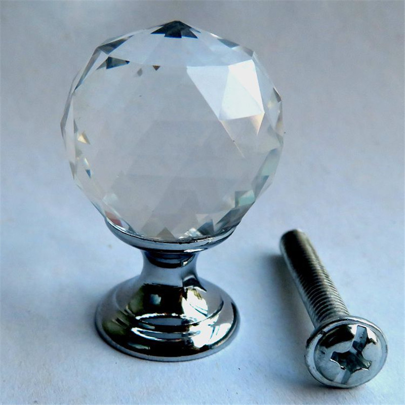 Hot Selling New produ Crystal Glass Door Handle Shower Room Handle 18mm Clear Diamond Cabinet Cabinet